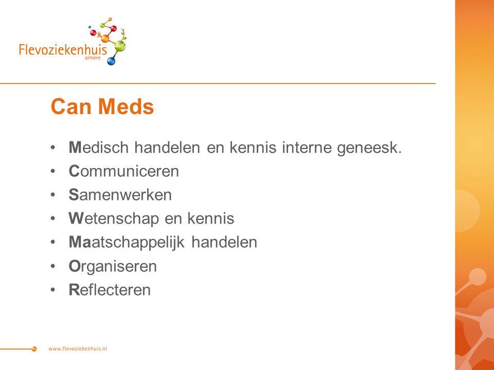 Can Meds Medisch handelen en kennis interne geneesk.