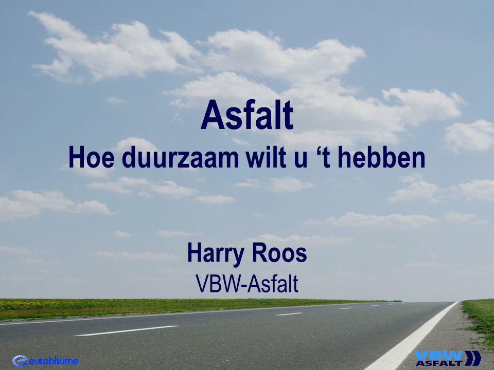 Asfalt Hoe duurzaam wilt u 't hebben Harry Roos VBW-Asfalt