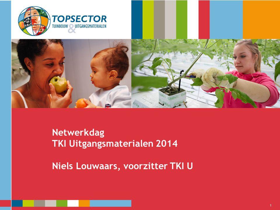 Netwerkdag TKI Uitgangsmaterialen 2014 Niels Louwaars, voorzitter TKI U 1