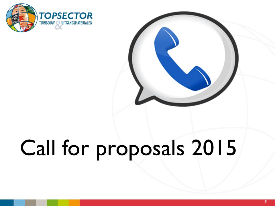 8 Call for proposals 2015