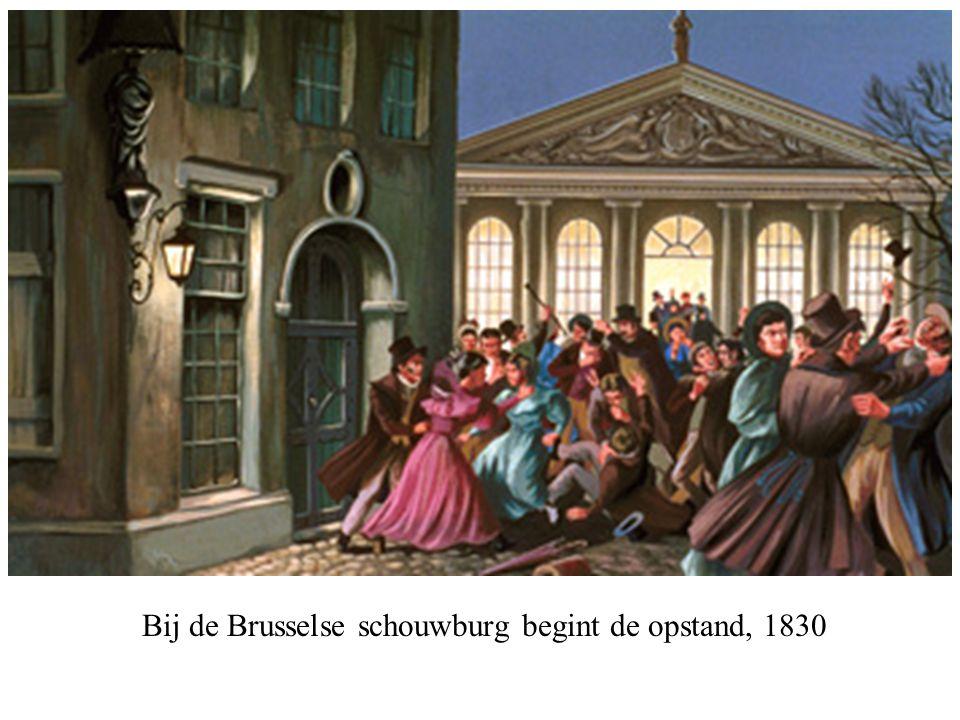 Bij de Brusselse schouwburg begint de opstand, 1830