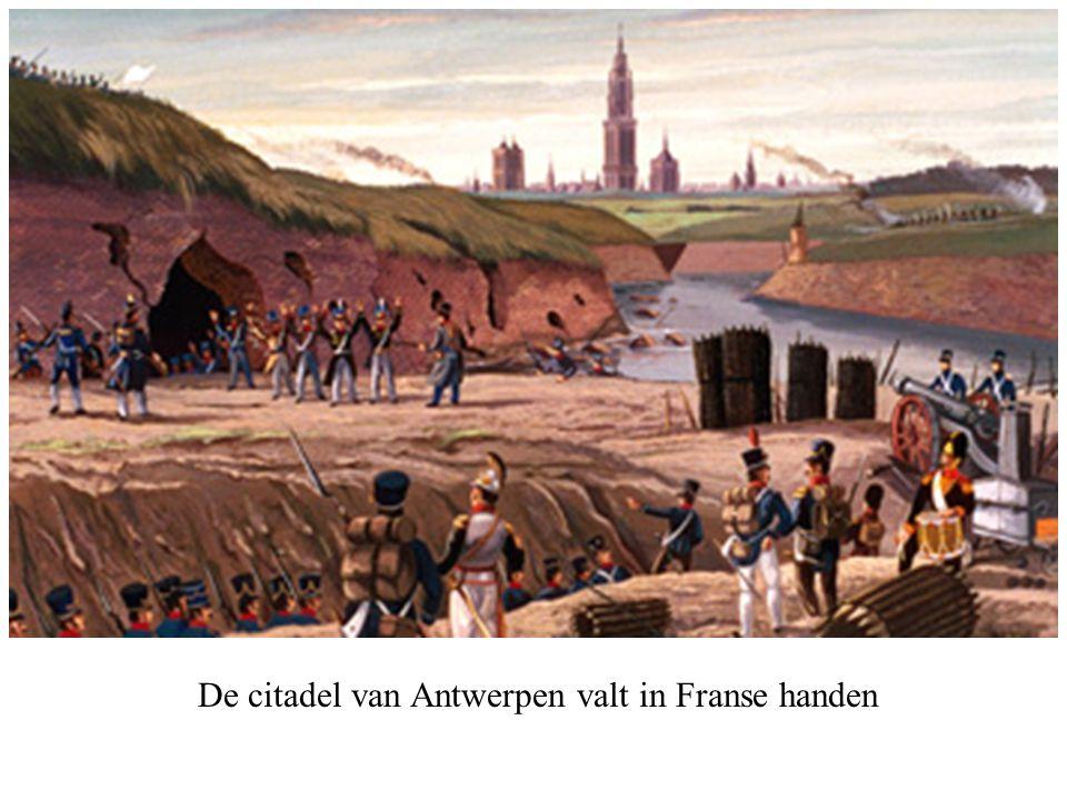 De citadel van Antwerpen valt in Franse handen