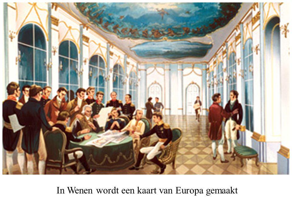In Wenen wordt een kaart van Europa gemaakt