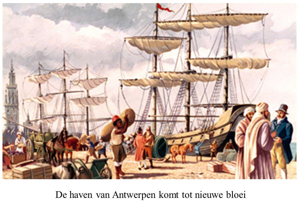 De haven van Antwerpen komt tot nieuwe bloei
