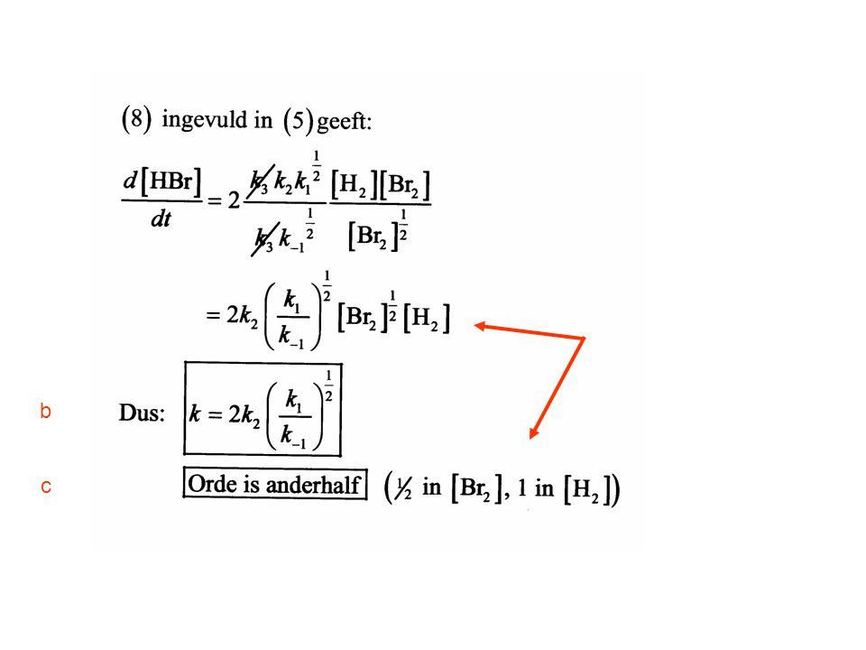 Opgave 3 Gegeven is een eerste orde reactie A → B met een eerste orde nevenreactie A → C.
