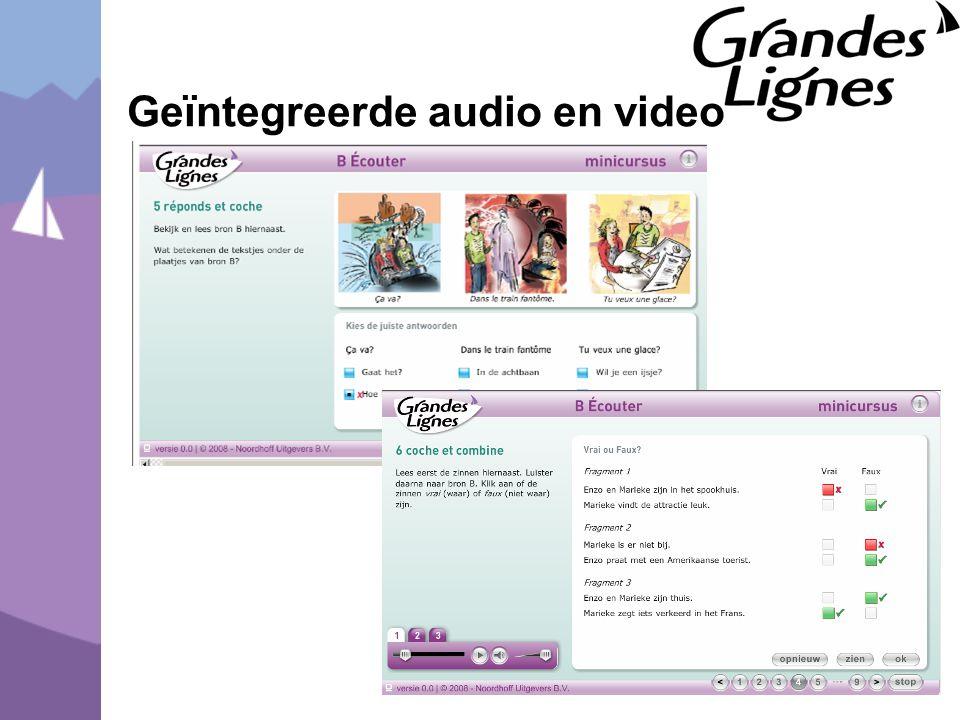 Geïntegreerde audio en video
