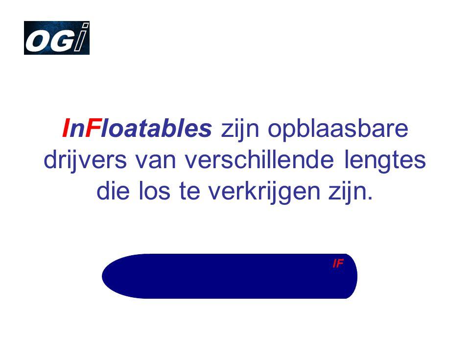 InFloatables zijn opblaasbare drijvers van verschillende lengtes die los te verkrijgen zijn. IF