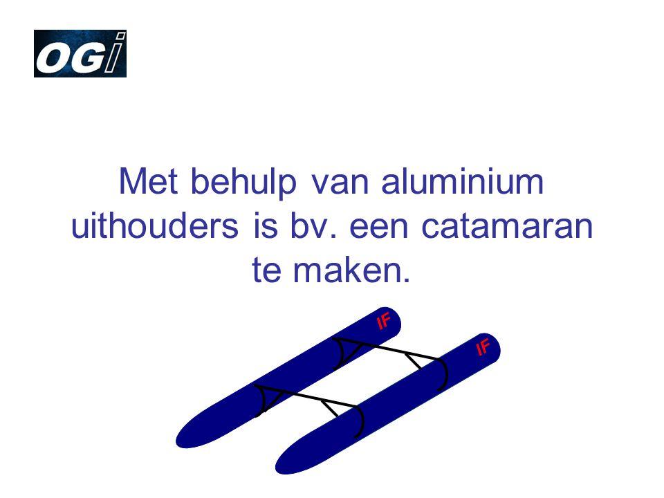 Met behulp van aluminium uithouders is bv. een catamaran te maken. IF