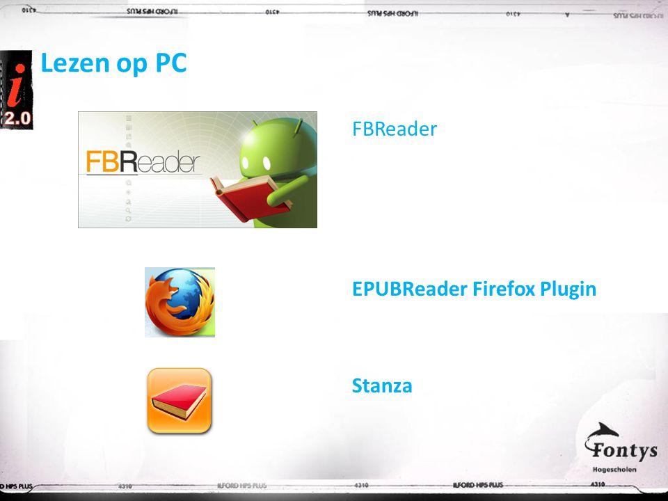 Lezen op PC FBReader EPUBReader Firefox Plugin Stanza