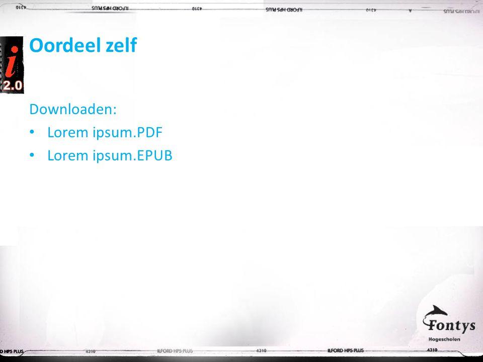 Oordeel zelf Downloaden: Lorem ipsum.PDF Lorem ipsum.EPUB