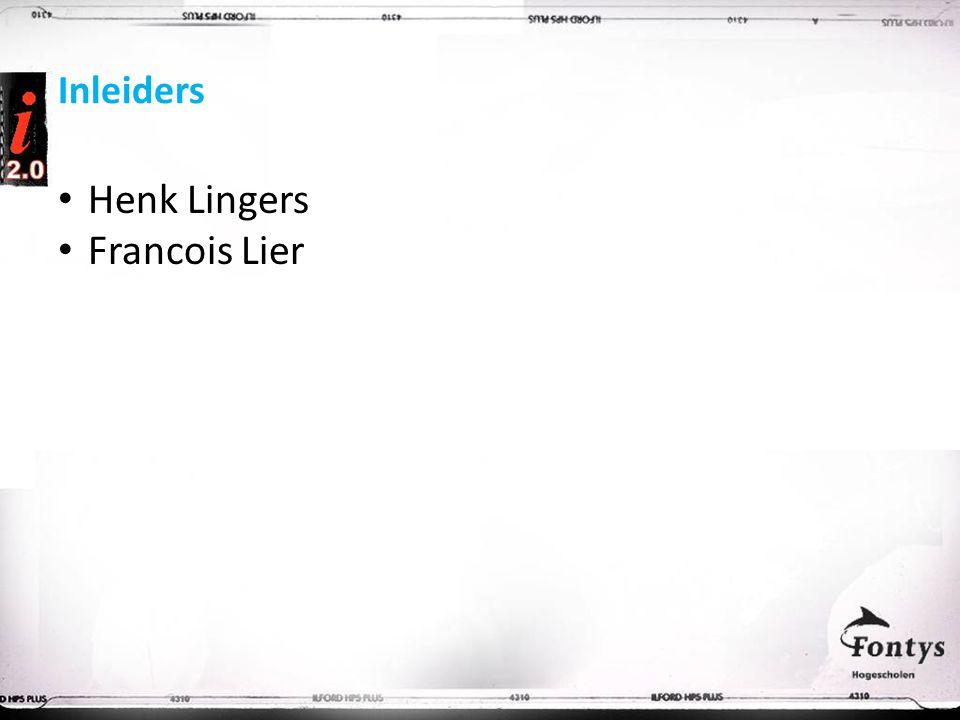 Inleiders Henk Lingers Francois Lier