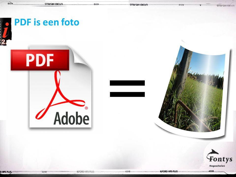PDF is een foto