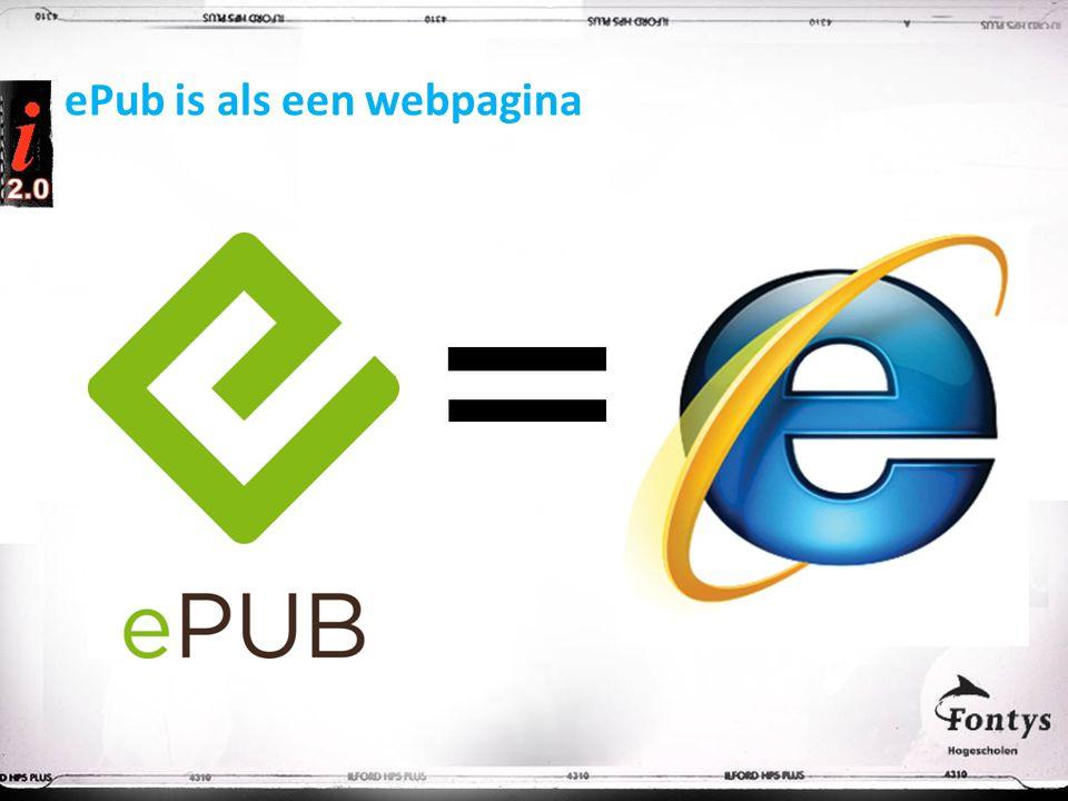 ePub is als een webpagina