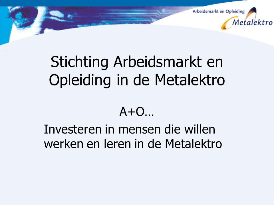 Stichting Arbeidsmarkt en Opleiding in de Metalektro A+O… Investeren in mensen die willen werken en leren in de Metalektro