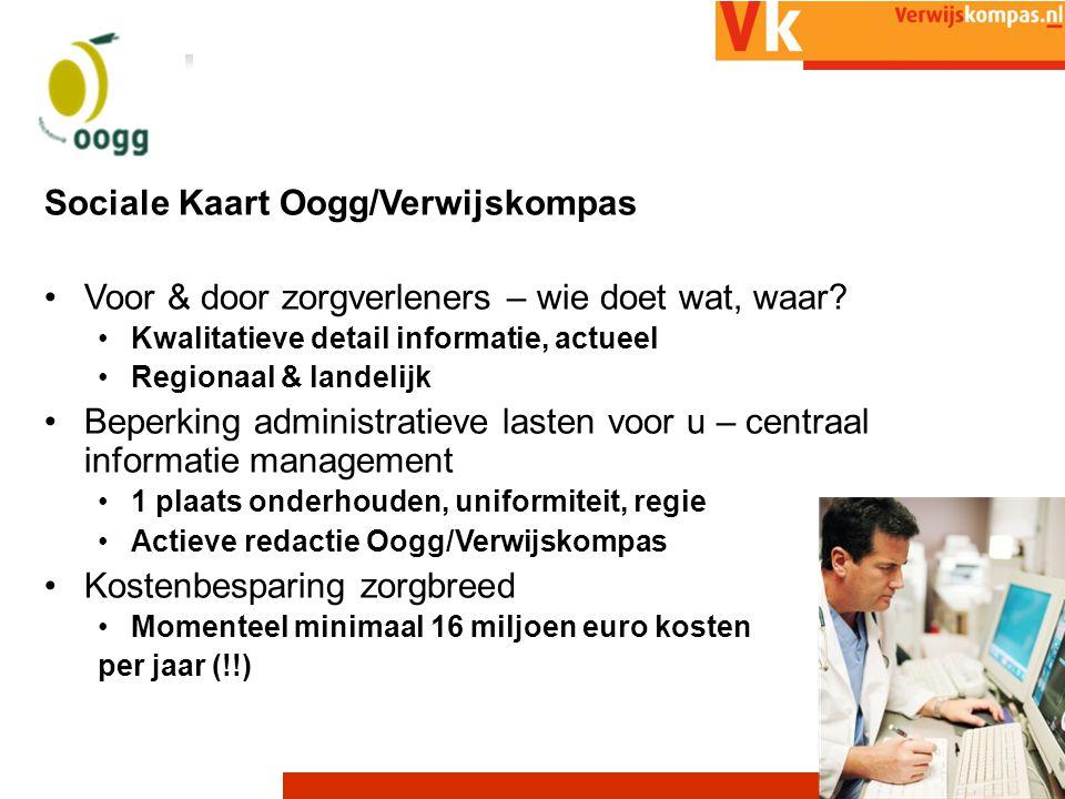 21/07/201413 Sociale Kaart Oogg/Verwijskompas Voor & door zorgverleners – wie doet wat, waar.
