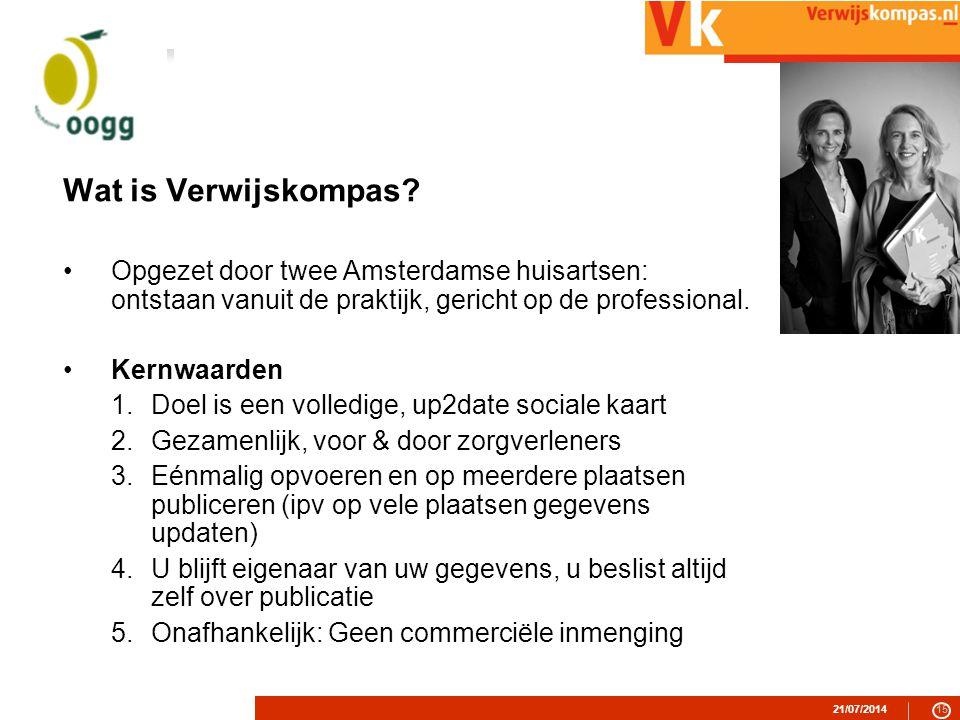 21/07/201415 Wat is Verwijskompas.