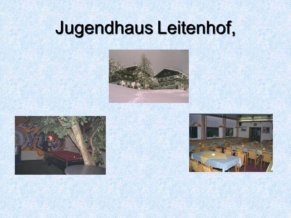 accomodatie Jugendhaus Leitenhof, Scheffau (Wilder Kaiser-Brixental) Ligging:In rustige ligging aan de dorpsrand van Scheffau.