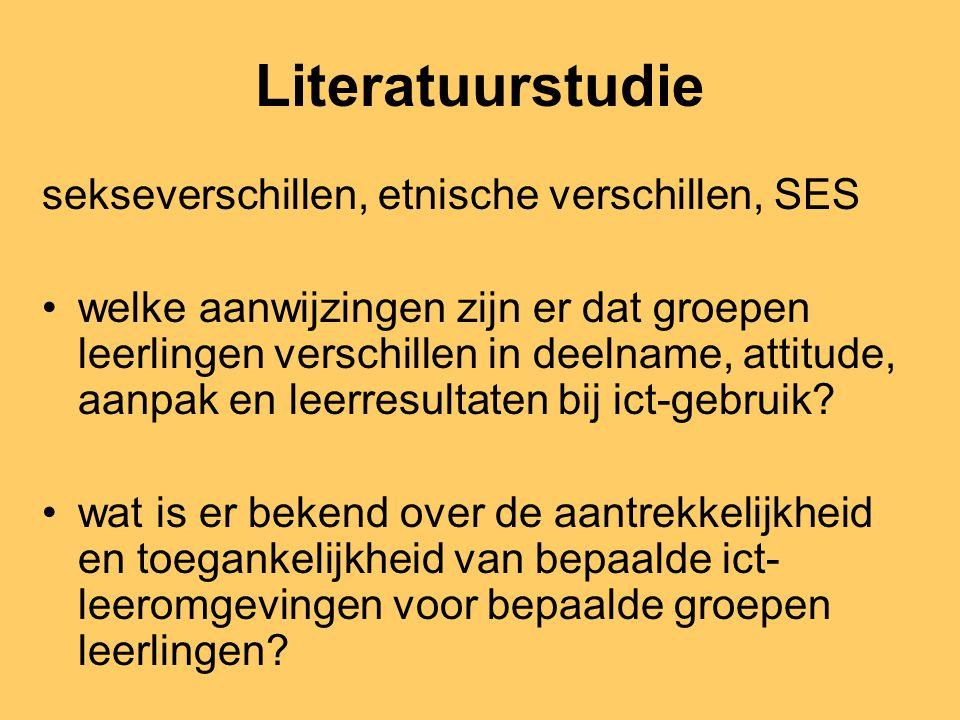 Deel 1 Scholen en de digital divide Eck, E. van, Volman, M., Heemskerk, I, & Kuiper, E. (2003). Ict en diversiteit. Ict-gebruik door leerlingen en doc