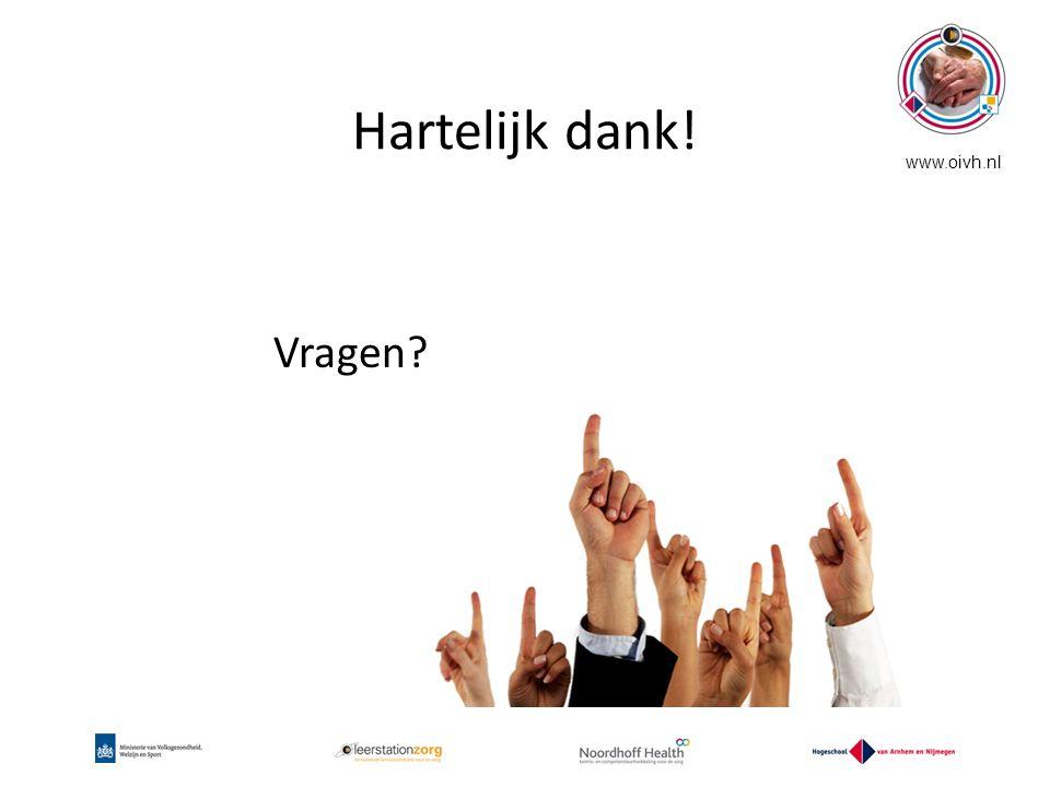 Hartelijk dank! www.oivh.nl Vragen?