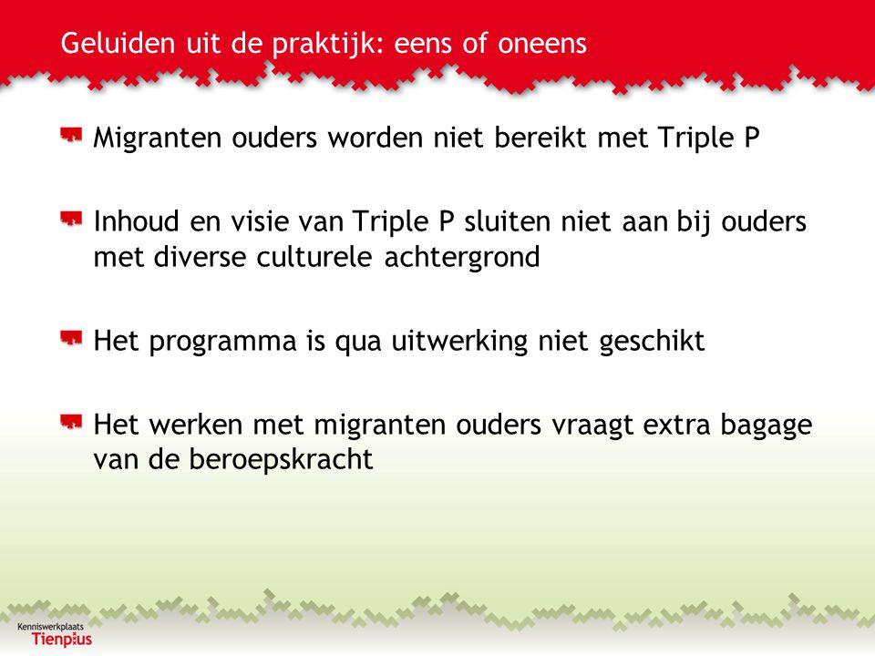 Migranten ouders worden niet bereikt met Triple P