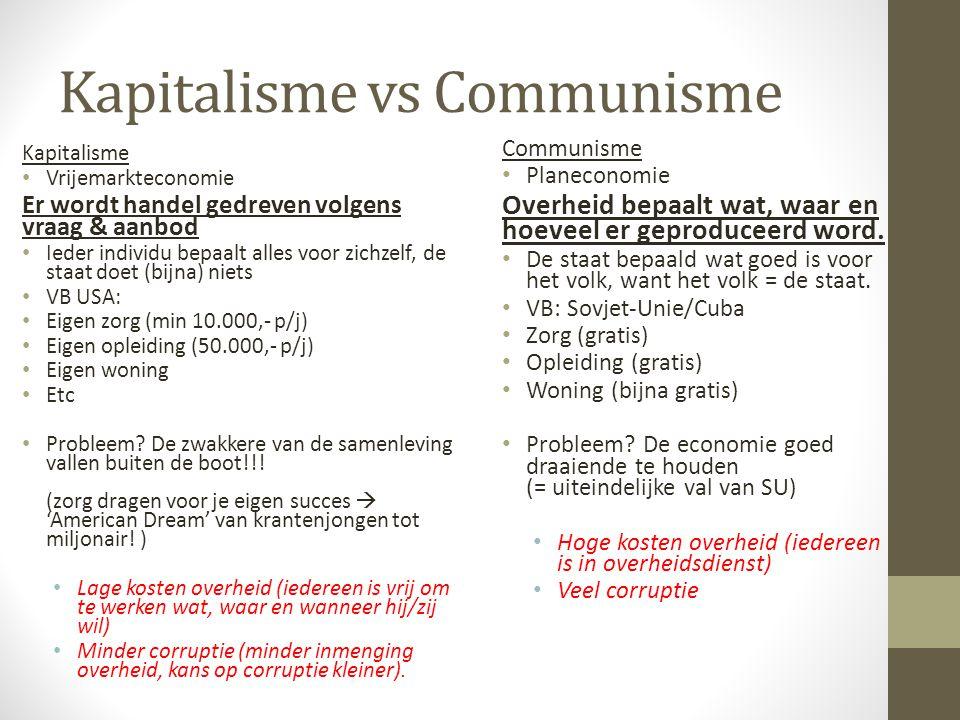 Strijd tussen Kapitalisten en Communisten Wat is het verschil tussen deze twee.