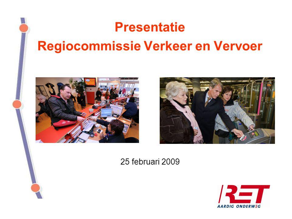 Presentatie Regiocommissie Verkeer en Vervoer 25 februari 2009