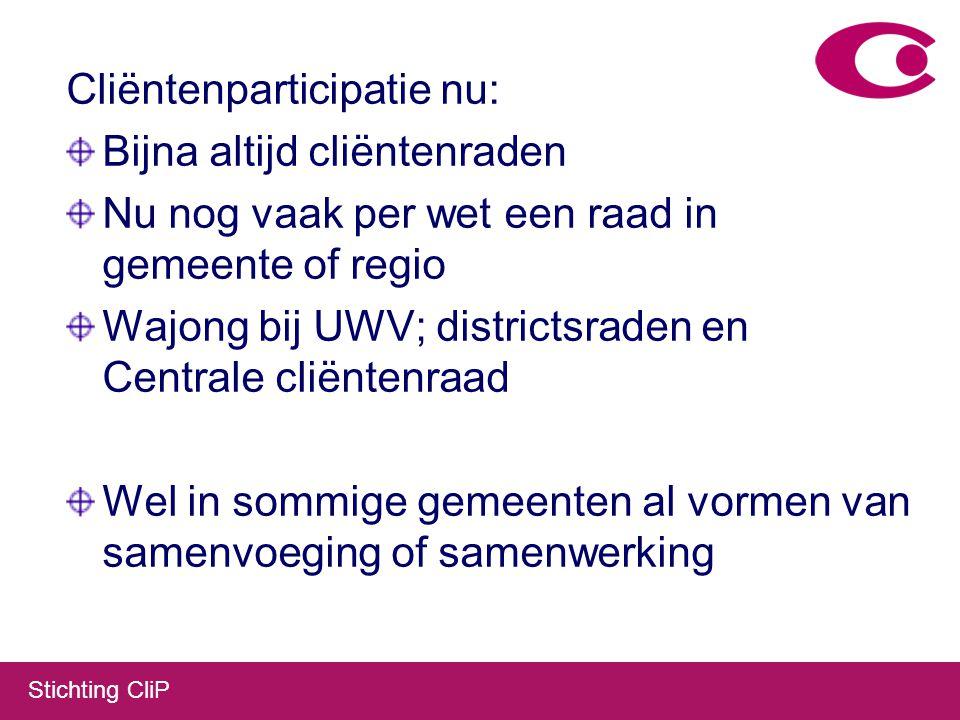 Stichting CliP Cliëntenparticipatie in de Wet werken naar vermogen.