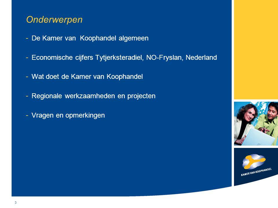 3 Onderwerpen - De Kamer van Koophandel algemeen - Economische cijfers Tytjerksteradiel, NO-Fryslan, Nederland - Wat doet de Kamer van Koophandel - Re