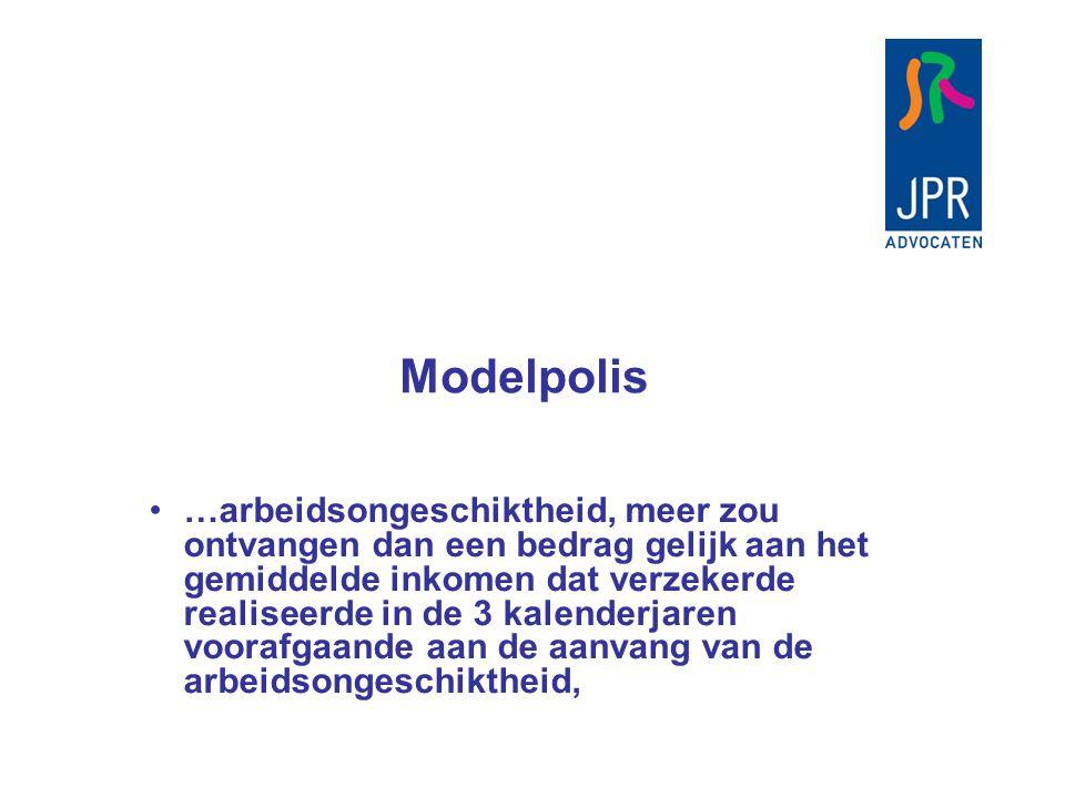 Modelpolis …heeft de verzekeraar het recht het meerdere in mindering te brengen op de schadevergoeding. recht hebben laat ruimte voor debat