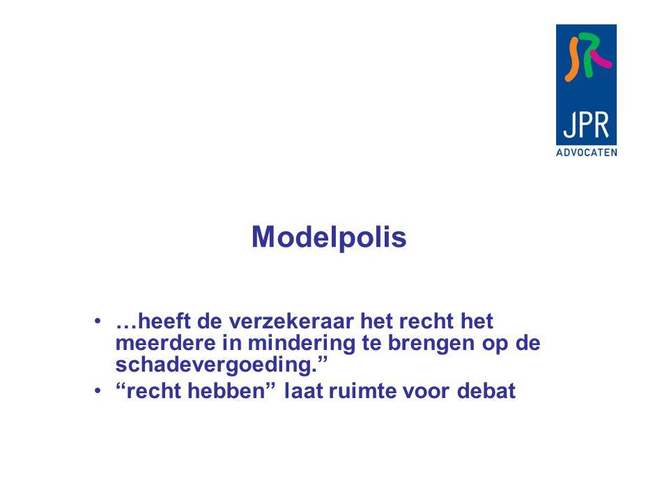 Modelpolis Verzekerde som 60, inkomen 30, 50% te veel premie betaald.