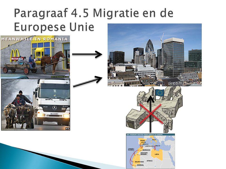  Veel (opgeleide) mensen migreren uit Oost-Europa naar West-Europa.