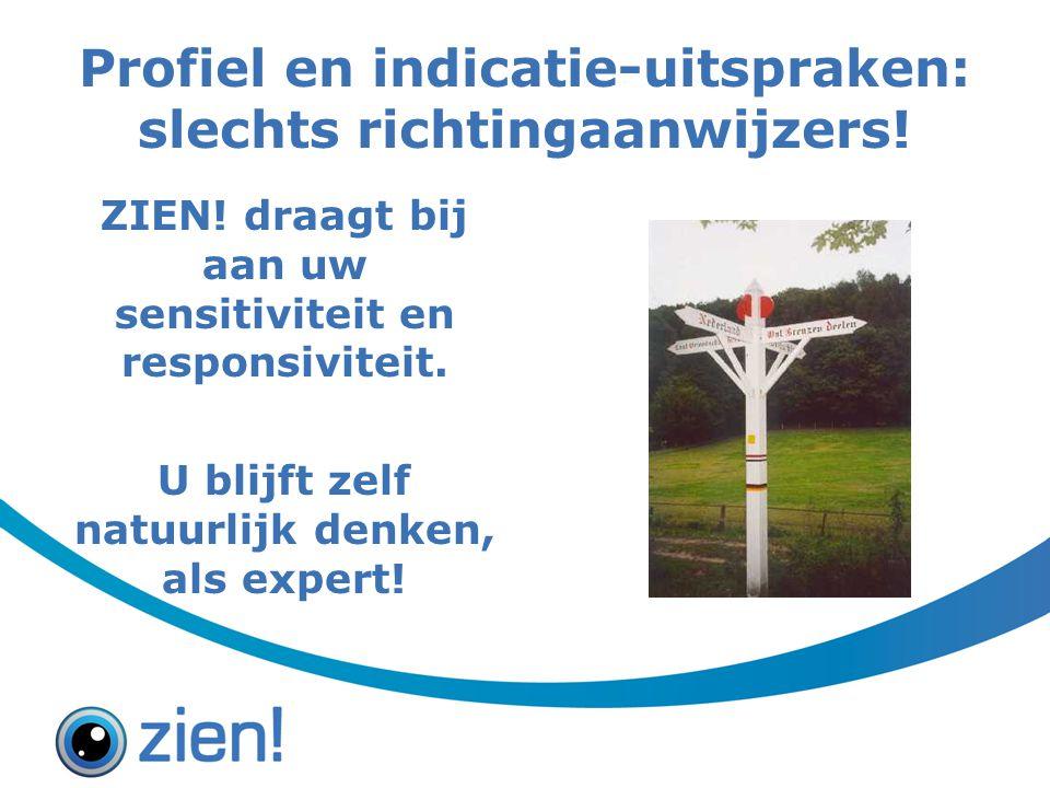 Profiel en indicatie-uitspraken: slechts richtingaanwijzers.