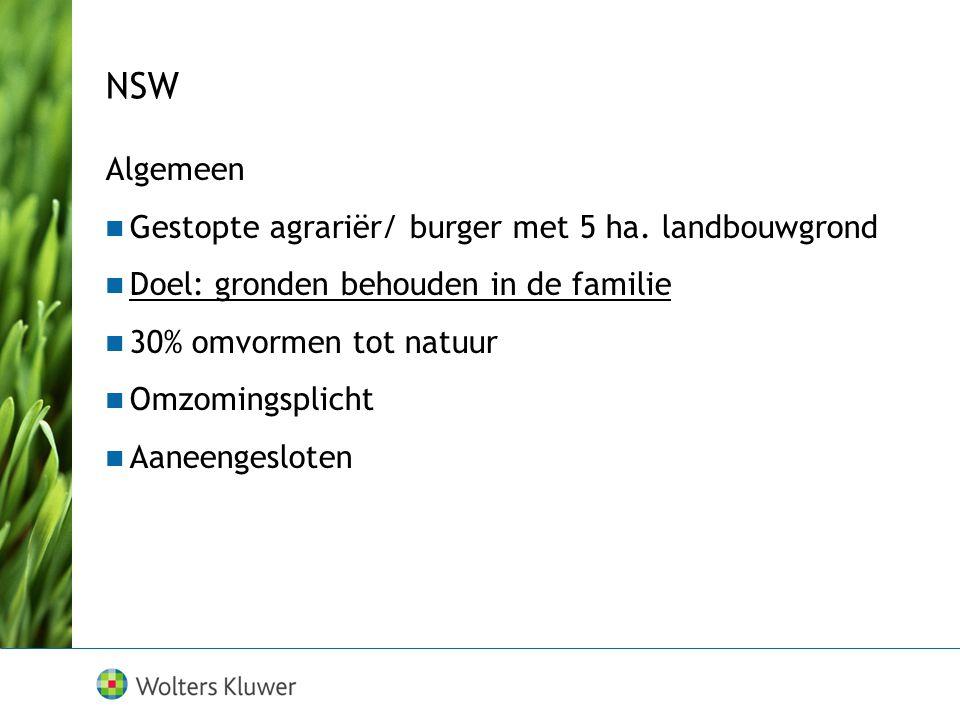 NSW Algemeen Gestopte agrariër/ burger met 5 ha.
