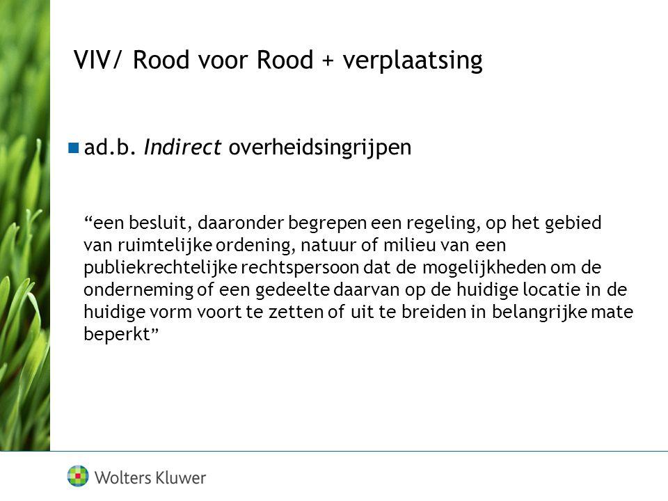 """VIV/ Rood voor Rood + verplaatsing ad.b. Indirect overheidsingrijpen """"een besluit, daaronder begrepen een regeling, op het gebied van ruimtelijke orde"""