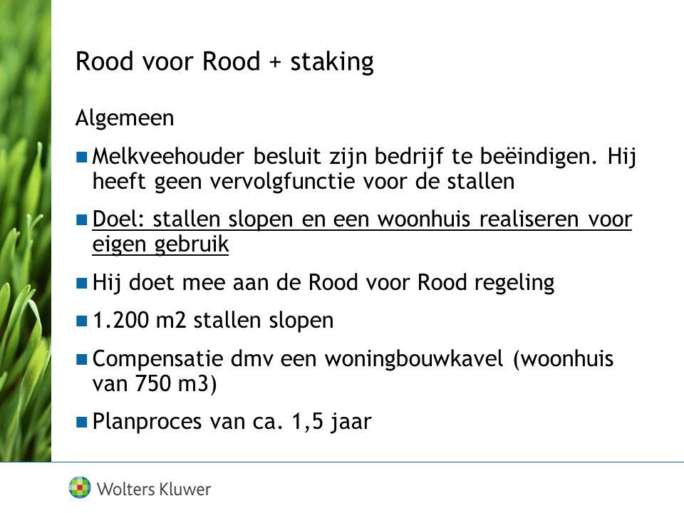 Rood voor Rood + staking Algemeen Melkveehouder besluit zijn bedrijf te beëindigen.