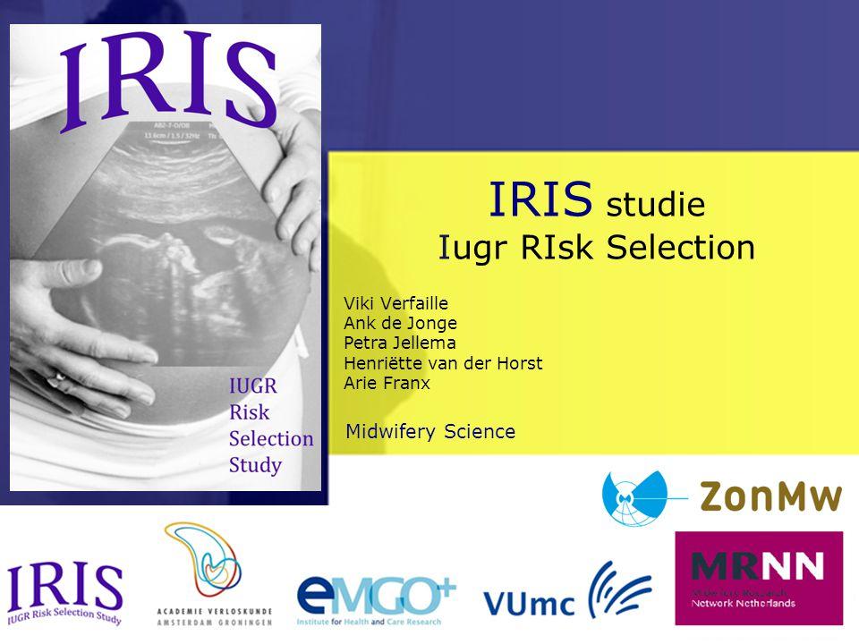 Midwifery ScienceAfdeling > IRIS studie Iugr RIsk Selection Viki Verfaille Ank de Jonge Petra Jellema Henriëtte van der Horst Arie Franx
