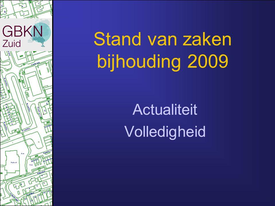 Aanbesteding 2009/2010 Mits Initieel Bag-bebouwing aanwezig Initiële vulling t.l.v. de gemeenten