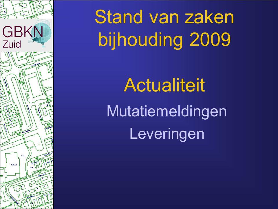 2010 Van 108 naar 102 gemeenten Aantal ZMG's van 44 naar 43 Afn.