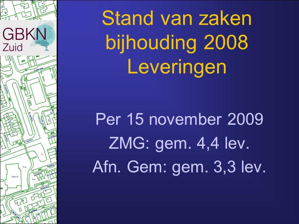 Stand van zaken bijhouding 2009 Niet overal rozengeur en maneschijn 108 gemeenten, 108 nuances