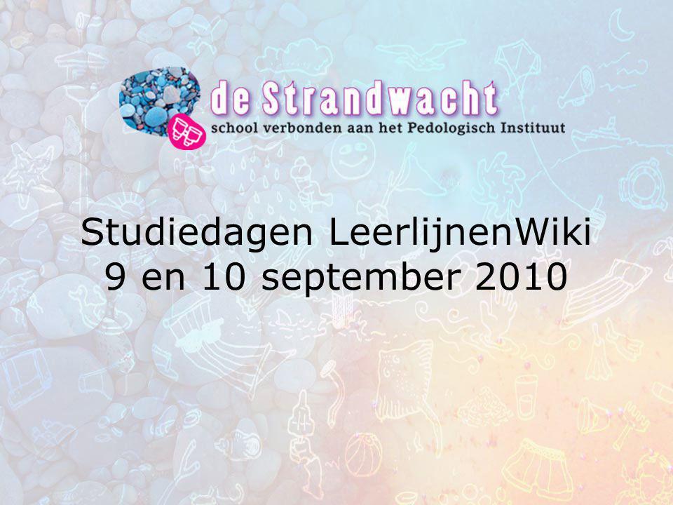 Studiedagen LeerlijnenWiki 9 en 10 september 2010