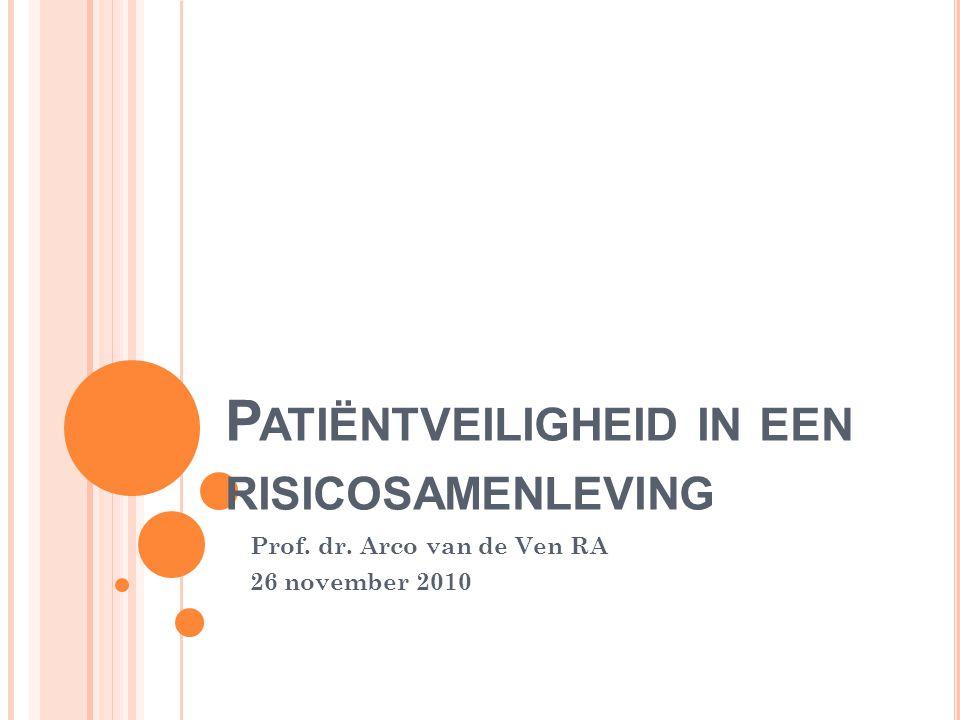 P ATIËNTVEILIGHEID IN EEN RISICOSAMENLEVING Prof. dr. Arco van de Ven RA 26 november 2010