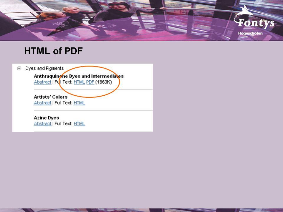 HTML of PDF