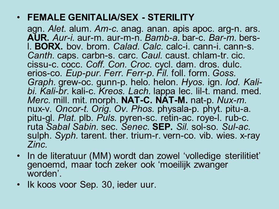 FEMALE GENITALIA/SEX - PLACENTA - retained Agn.alet.