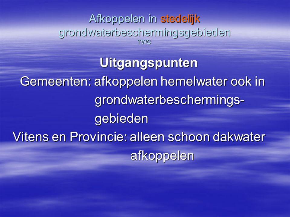 Afkoppelen in stedelijk grondwaterbeschermingsgebieden TWG Consequenties a.