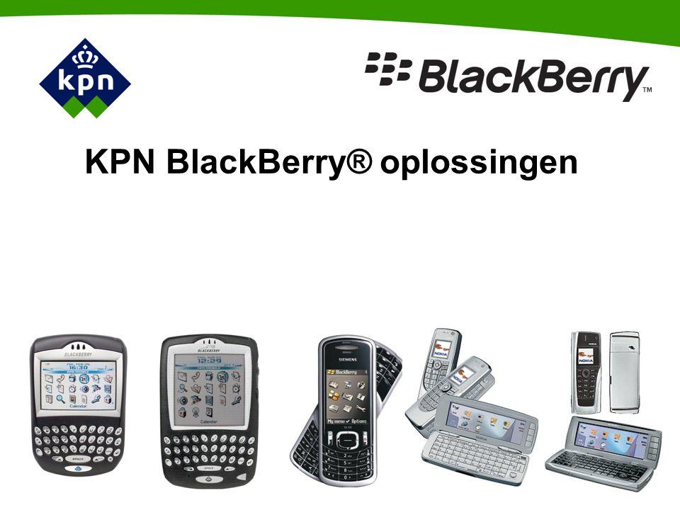 KPN BlackBerry® oplossingen