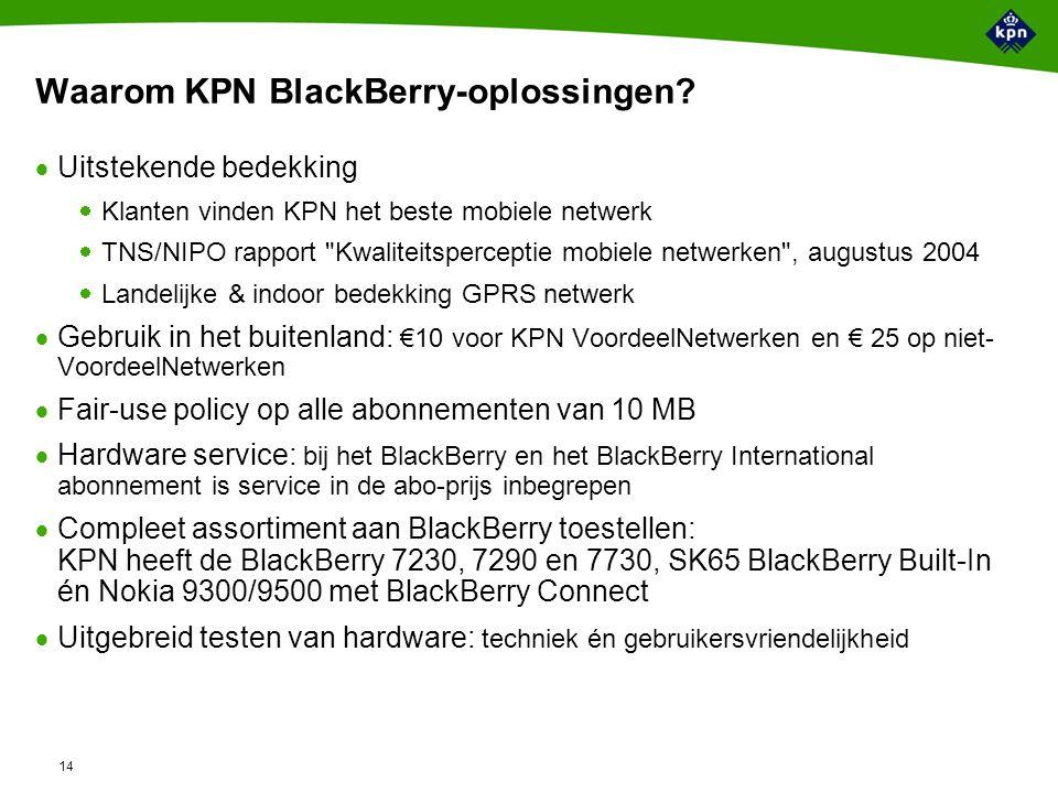 14 Waarom KPN BlackBerry-oplossingen.