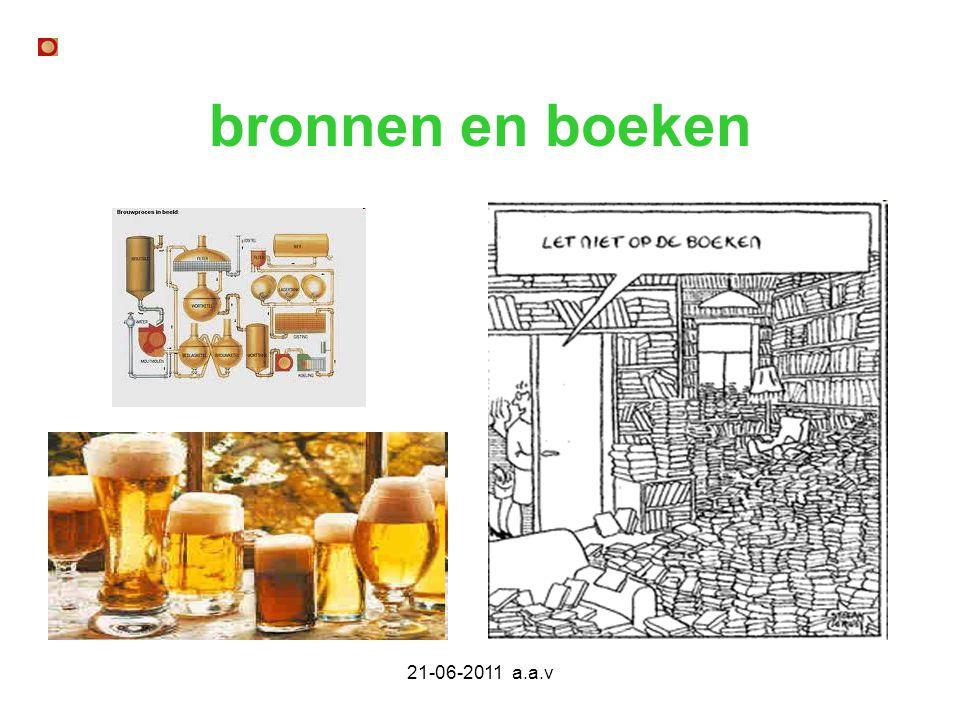 21-06-2011 a.a.v bronnen en boeken