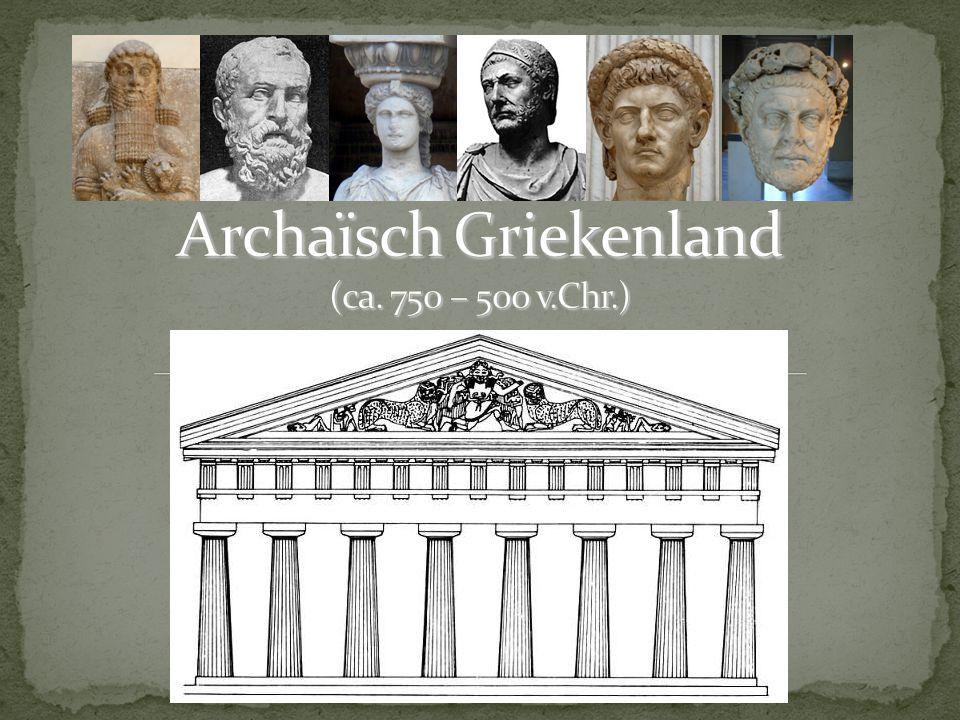 'Donkere Eeuwen' Archaïsche tijd A-vragen