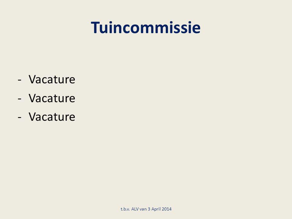 Tuincommissie -Vacature t.b.v. ALV van 3 April 2014