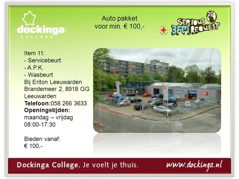 Auto pakket voor min.€ 100,- Item 11: - Servicebeurt - A.P.K.